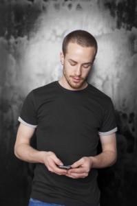 Guy texting