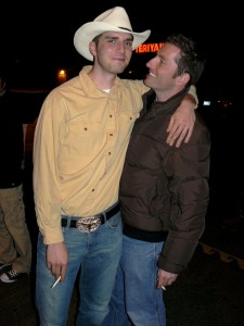 Attractive couple of cowboys.