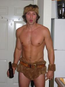 Cute guy dressed as Tarzan